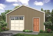 Shop Garage Plan - 20-250 - Front Exterior