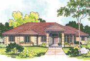 Southwest House Plan - Lantana 30-177 - Front Elevation
