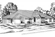Spanish Style House Plan - Santa Maria 11-033 - Front Elevation