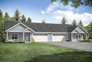 Traditional Duplex Plan 60-052 - Front Exterior