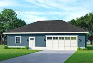 Traditional Garage Plan 20-344 - Front Elevation
