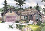 Traditional House Plan - Anderson 30-467 - Front Elevation