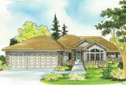 Traditional House Plan - Bennett 30-281 - Front Elevation