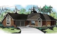 Traditional House Plan - Danbury 10-036 - Front Elevation