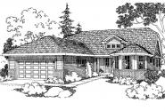 Traditional House Plan - Dayton 30-249 - Front Elevation