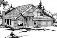 Traditional House Plan - Geneva 10-067 - Front Elevation