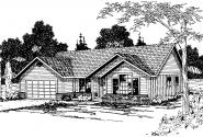 Traditional House Plan - Jerico 10-042 - Front Elevation