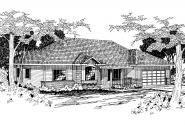 Traditional House Plan - Midland 30-052 - Front Elevation
