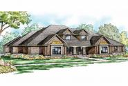 Traditional House Plan - Monticello 30-734 - Front Elevation