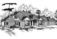 Tudor House Plan - Heritage 10-044 - Front Elevation