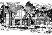 Tudor House Plan - Livingston 30-046 - Front Elevation