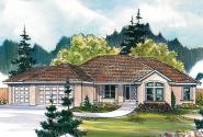 Tuscan House Plan - Brittany 30-317 - Front Elevation