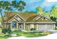 Tuscan House Plan - Mansura 30-188 - Front Elevation