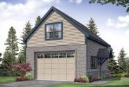 Two Car Garage Plan - Garage 20-259 - Front Elevation