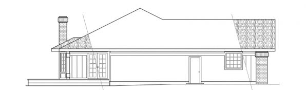 Jefferson - 10-056 - Ranch Home Plans - Left Elevation