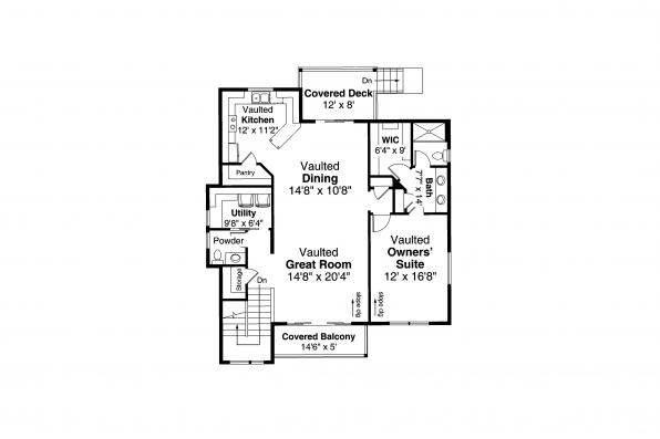 Contemporary House Plan Sheffield 31-160 - First Floor