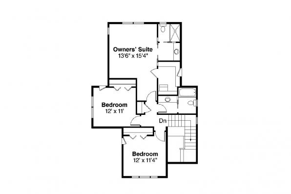 Bungalow House Plan - Blue River 30-789 - 2nd Floor Plan