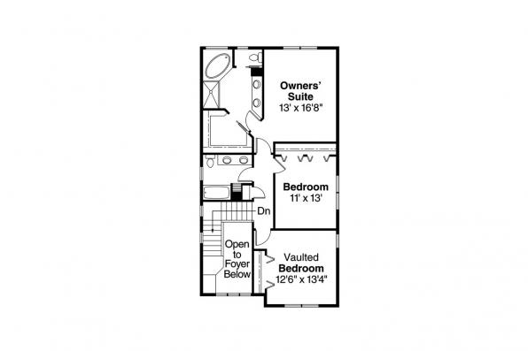 Bungalow House Plan - Maplecreek 30-591 - 2nd Floor Plan