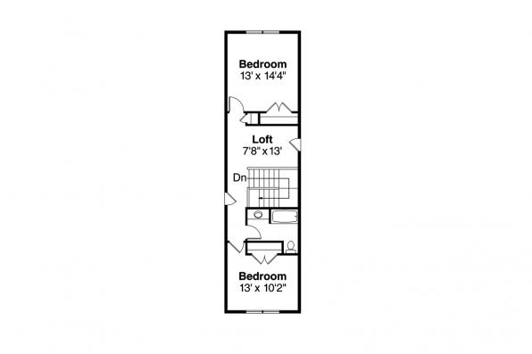 Bungalow House Plan - Wisteria 30-655 - 2nd Floor Plan