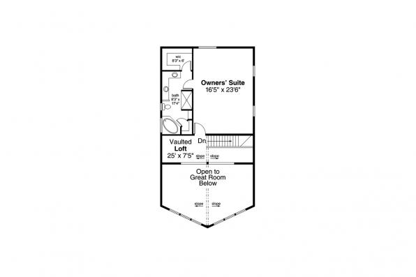 Cabin House Plan - Logsden 31-075 - Second Floor
