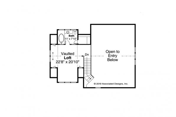 Cabin Plan - Laverne 30-744 - Second Floor Plan