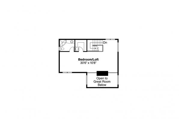 Cape Cod House Plan - Lakeview 10-079 - Second Floor Plan