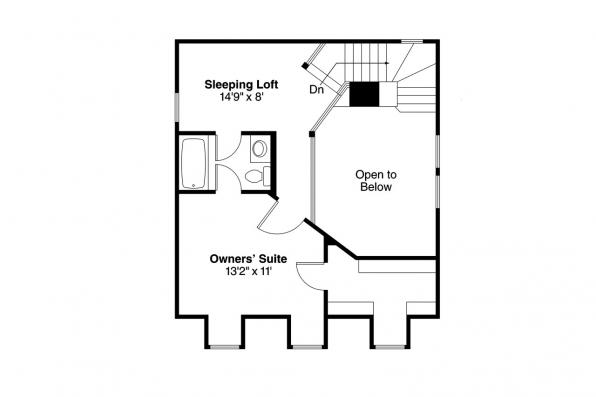 Cape Cod House Plan - Langford 42-014 - 2nd Floor Plan