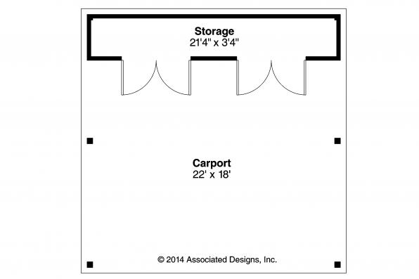 Carport Plan 20-094 - Floor Plan