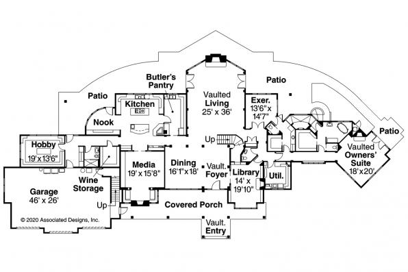 Chalet House Plan - Coeur d'Alene 30-634 - First Floor Plan
