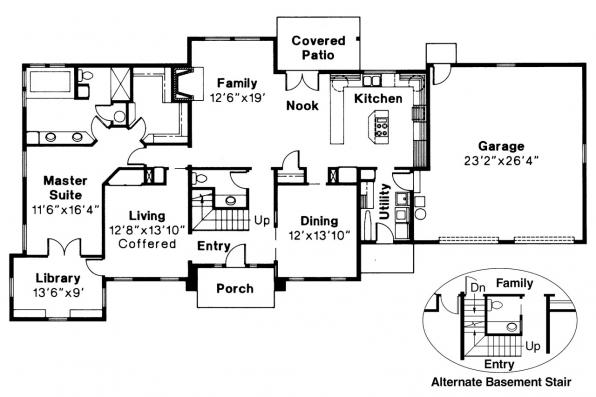 Classic House Plan - Greenville 30-028 - 1st Floor Plan