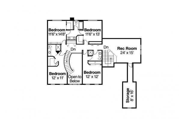 Colonial House Plan - Palmary 10-404 - Second Floor Plan
