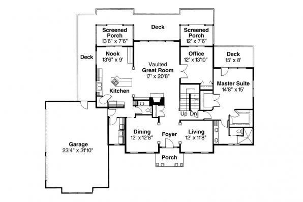 Colonial House Plan - Cobleskill 10-356 - 1st Floor Plan