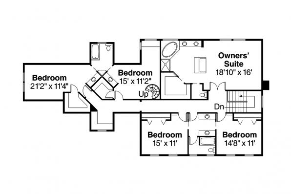 Colonial House Plan - Hanson 30-394 - 2nd Floor Plan