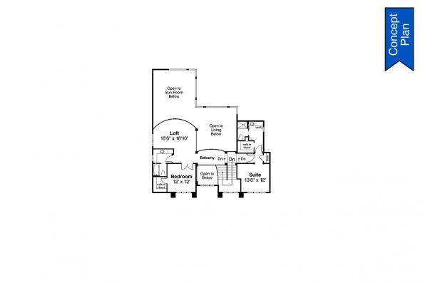 Traditional Concept Plan - Springhill 31-232 - Second Floor Plan