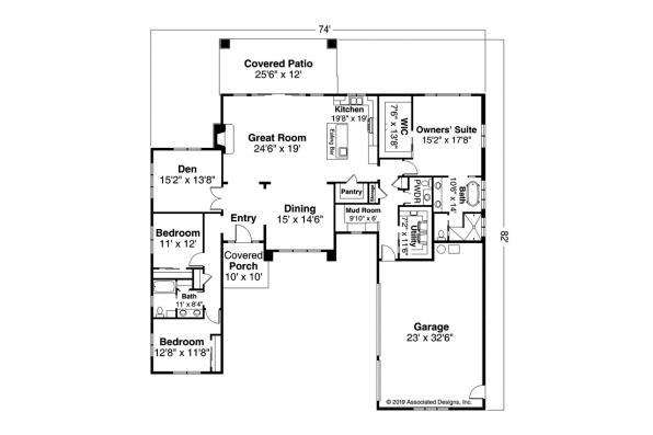 Contemporary House Design Hemlock 31-157 - Floor Plan