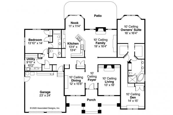 Contemporary House Plan - Stansbury 30-500 - Floor Plan