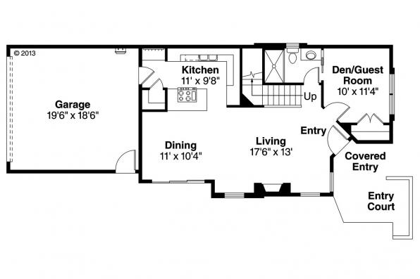 Contemporary House Plan - Alder Ridge 30-906 - 1st Floor Plan