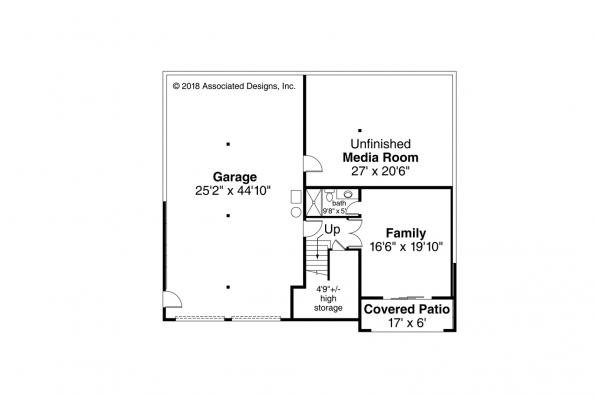 Contemporary House Plan - Alpenglow 31-115 - Daylight Basement