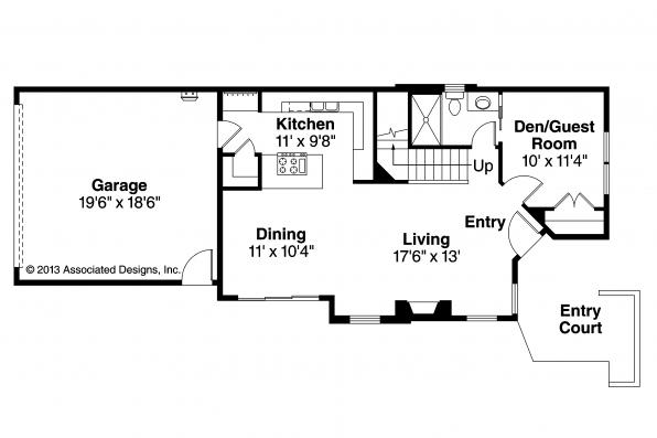 Contemporary House Plan - Merino 30-953 - First Floor Plan