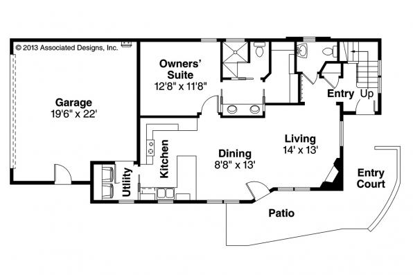 Contemporary House Plan - Parkview 30-905 - 1st Floor Plan