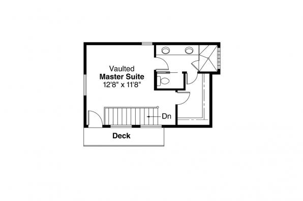 Contemporary House Plan - Riverview 51-003 - 2nd Floor Plan