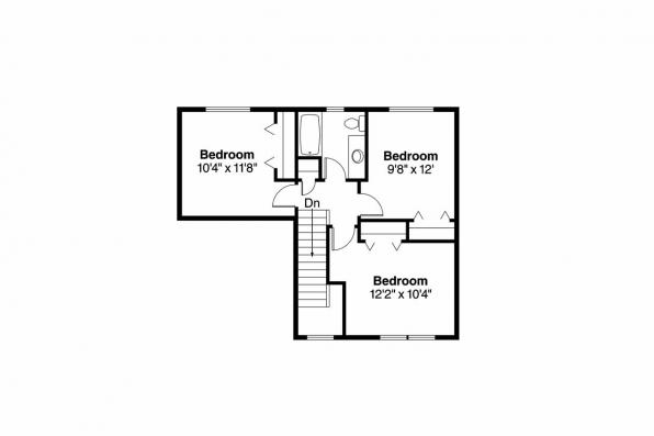 Contemporary House Plan - Wethersfield 30-702 - 2nd Floor Plan