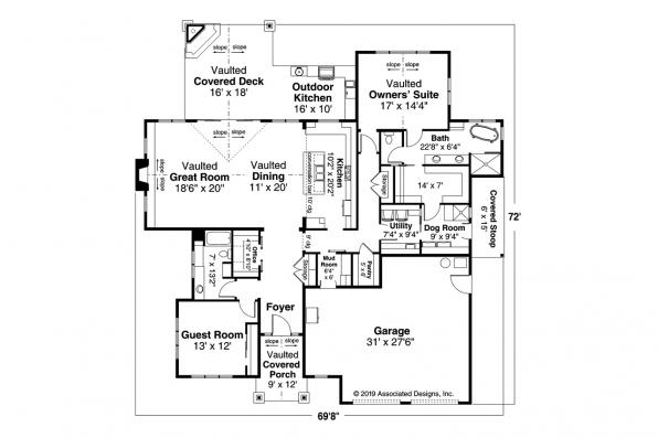 Cottage House Plan - Wesson 31-158 - Floor Plan