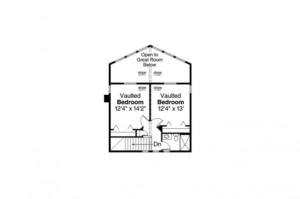 Cottage House Plan - Alpenview 31-003 - Second Floor Plan