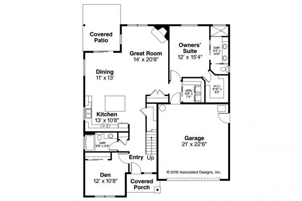 Cottage House Plan - Arborbrook 31-072 - First Floor Plan