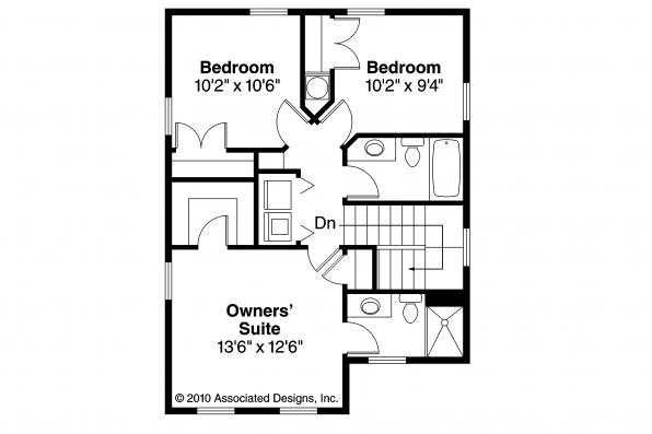 Cottage House Plan - Emerson 30-108 - 2nd Floor Plan