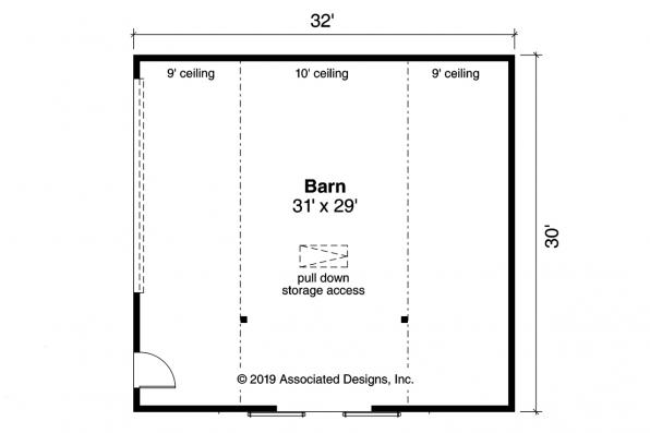 Barn Plan 20-261 - First Floor Plan