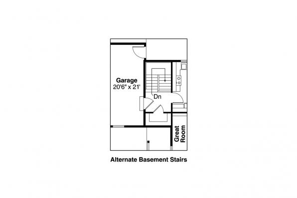 Country House Plan - Peterson 30-625 - Alternate Basement Floor Plan