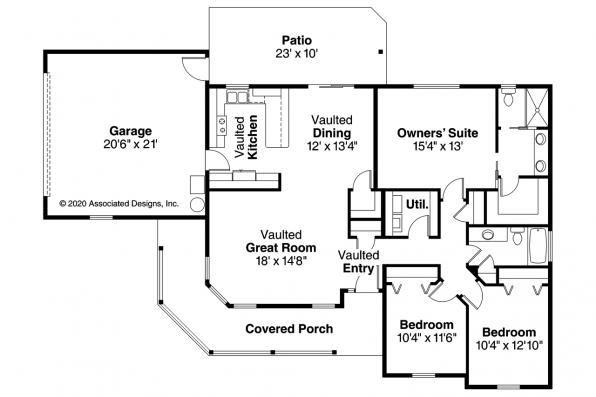 Country House Plan - Peterson 30-625 - Floor Plan