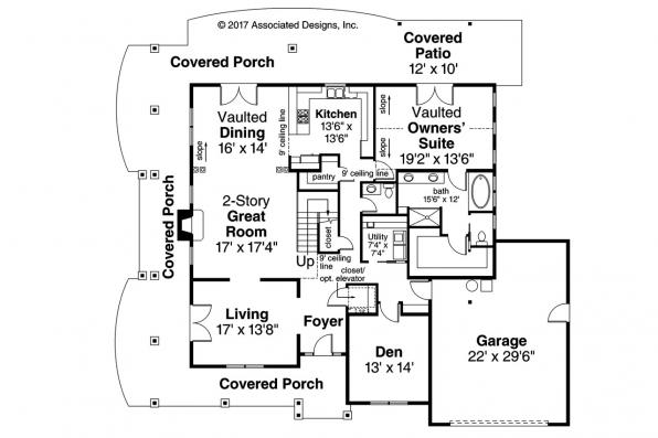 Country House Plan - Anchorage 30-930 - First Floor Plan